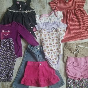 ❤ 12 month girl's Lot - 12 piece's
